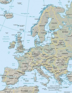 Geopolitical map of Europe