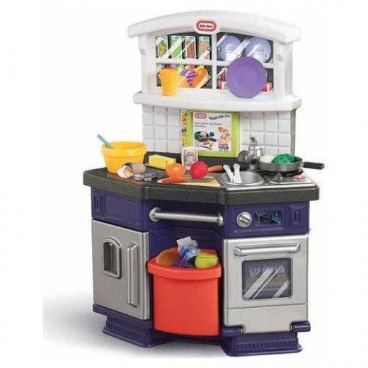 all in one kitchen with more interaction than your little ones can