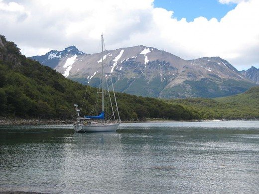 Beagle Channel seen from Tierra Del Fuego National Park