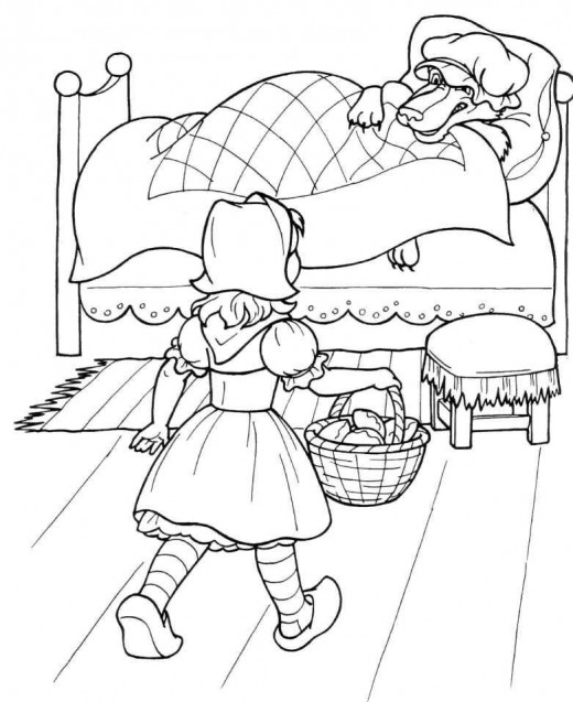 Amazing coloring pages august 2009 for Red riding hood coloring pages