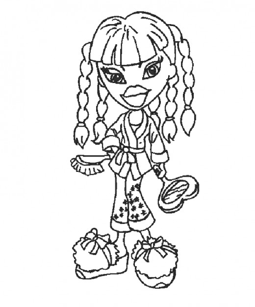 Coloring Pages Bratz Jade. Free Bratz Coloring Pages