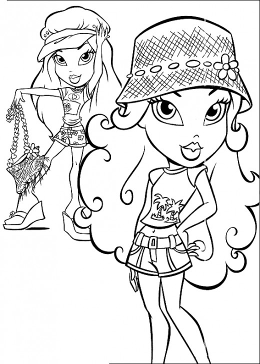 coloring pages for girls. Free Bratz Coloring Pages