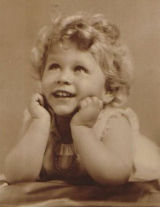 Queen Elizabeth ll as a child