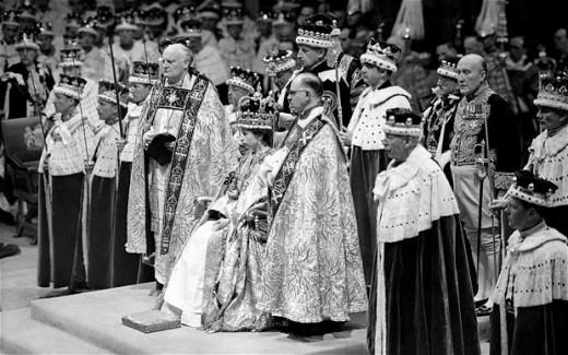 Queen Elizabeth ll at her coronation
