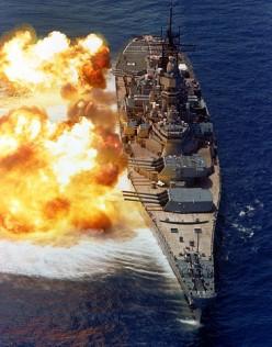 USS  IOWA - Historical World War ll Battleship