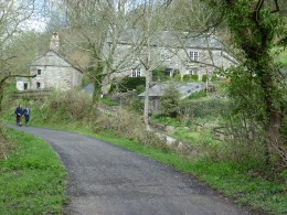 A remote cottage beside the Camel Trail hidden deep in the valley.