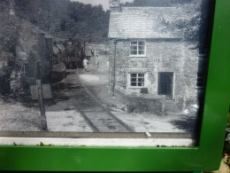 An old photograph showing the complete disregard for public safety in the days when the railway was running along its little branch lines. This is the halt at Helland Bridge on the long lost Wenford line.