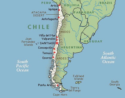 Chile has a very long coast line, not very easily patrolled