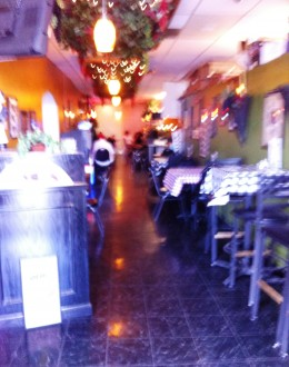 Sorry this picture came out real blurry! This is what the restaurant looks like when you first enter. It starts out as a long hallway. I will snap a new picture the next time I visit this place, so it might be a little while.