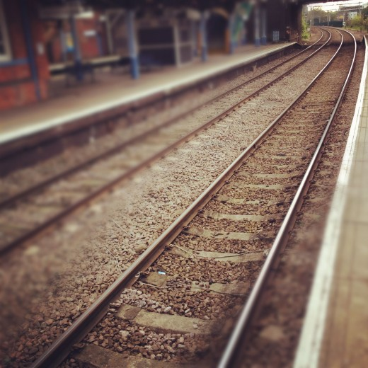 Instagram picture to accompany an article on rail travel