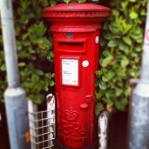 Postbox, taken on the walk to work
