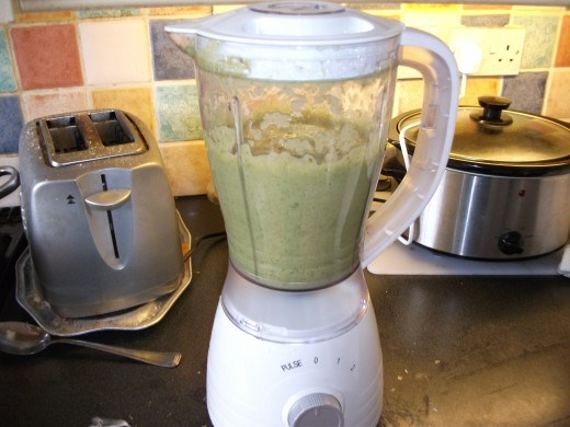 Soup in a blender