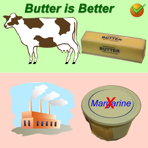 Butter is better than margarine