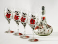 Hand Painted Decorated Wine Glasses