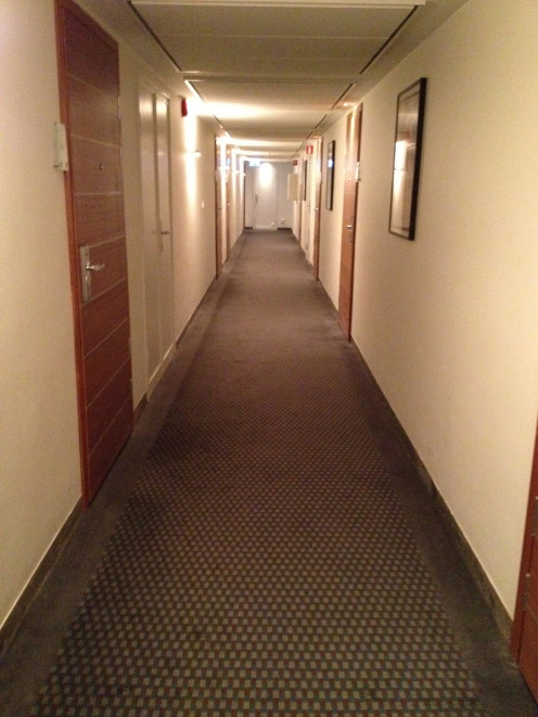 A carpet in the corridor!