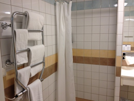 A shower and somewhere to hang towels!