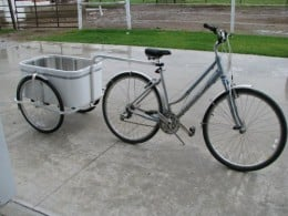 Small Amish made bike trailer