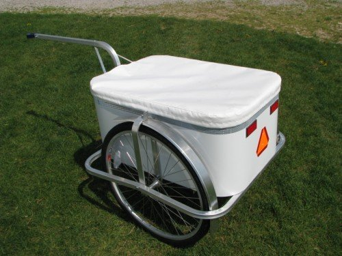 Large Aluminum Bike Trailer with cover