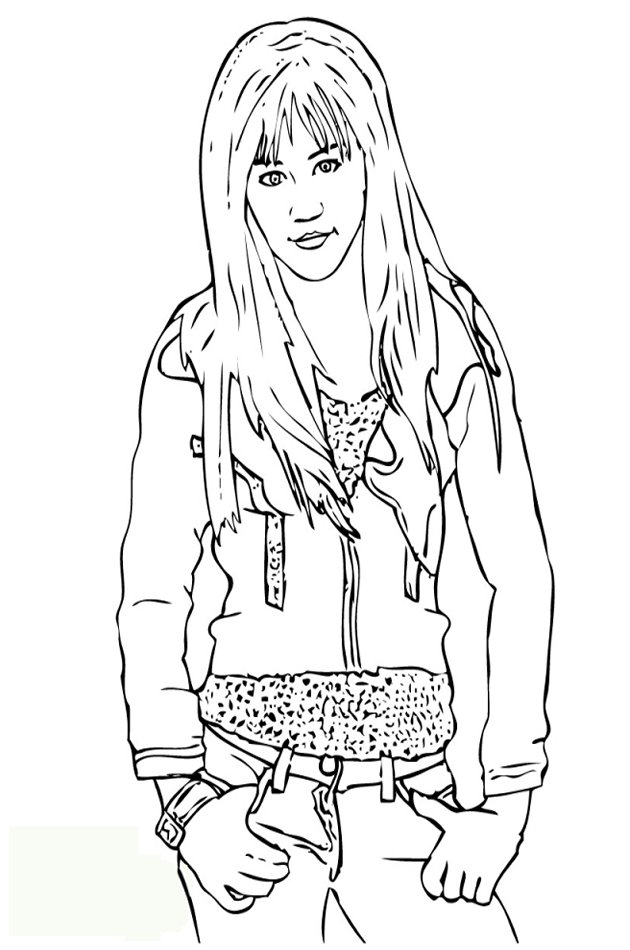 Miley cyrus now coloring pages