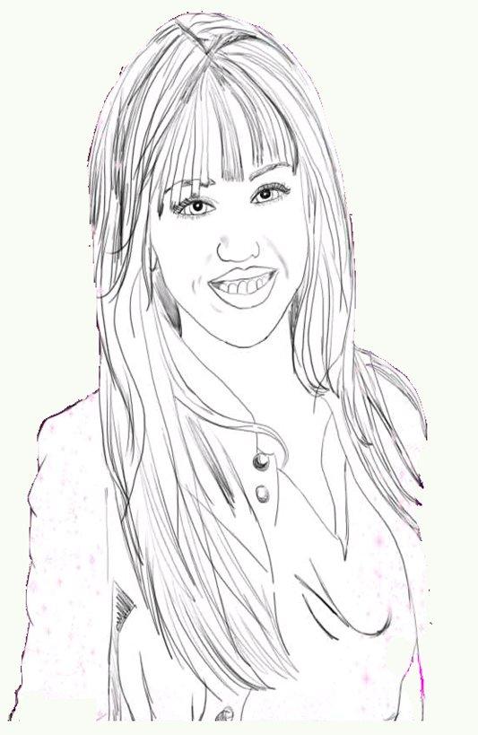 Childhood Education: Miley Cyrus, Hannah Montana Kids Free Colouring ...