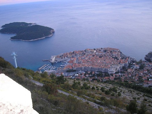 Aerial shot of Dubrovnik