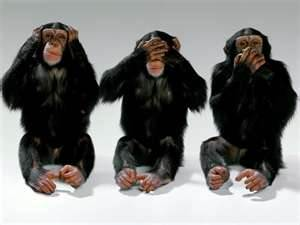 Hear no evil, speak no evil, see no evil...write no evil? Nope! That one's allowed!