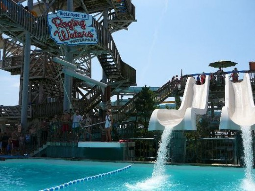 Raging waters water park, California