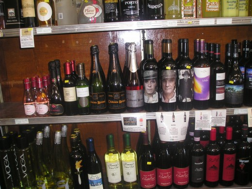 Italian wine galore, each with individual, handwritten descriptions