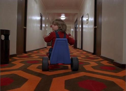 The vast hallways echo the terror of the hotel