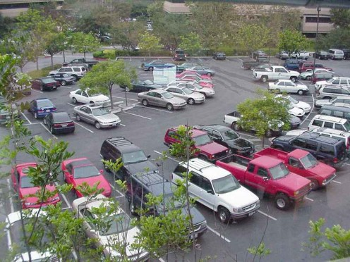 Not all workplace parking lots are full. Some areas of the US experienced the effects of the Recession of 2008 - 2010 in 2014 and later.