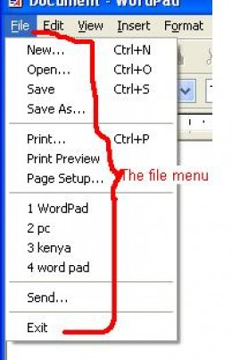 how to make a new page on wordpad