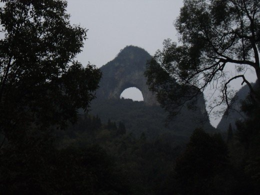 Moon Hill in Yangshuo China