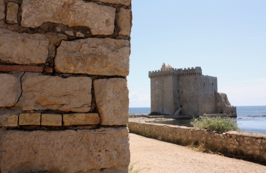 11th century tower and southwest corner of monestary walls