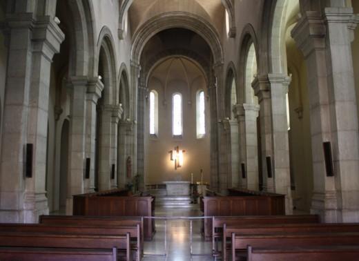 Simple elegance of church sanctuary