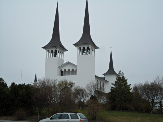 Hilltop Church in Reykjavik