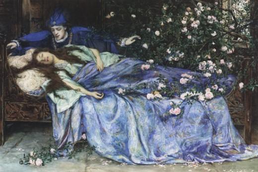 Sleeping Beauty by Henry Meynell Rheam, 1899