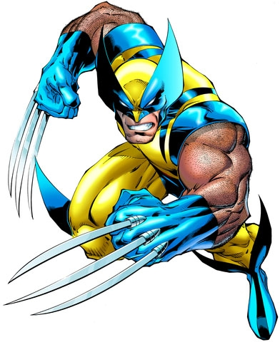 No one messes with a guy in spandex...especially when it's blue and yellow.