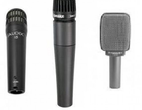 The Audix i5, the Shure SM 57 and the Sennheiser e 609.