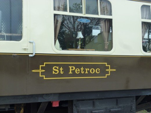 One of the luxury dining cars