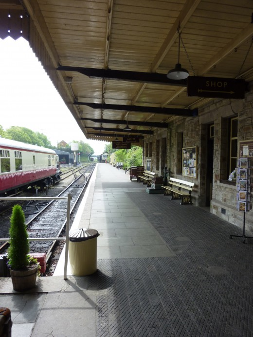 The platform at Bodmin General