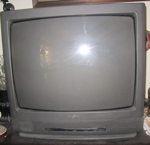 Front view of my old TV