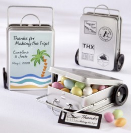 Mini Suitcase Wedding Favors from Wedding Favors Unlimited