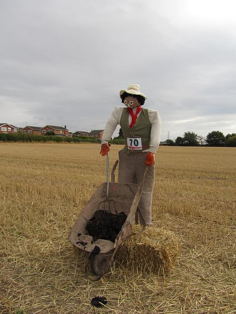 Farmer scarecrow.