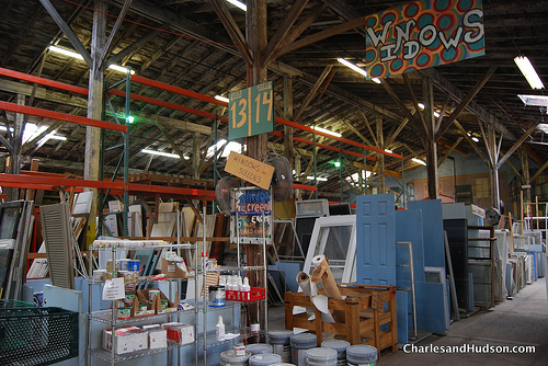 Go to your local salvage dealer and look for well-made doors, windows and cabinets.