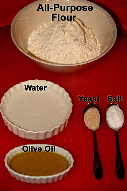 To make traditional Pita Bread you only need  five simple ingredients! Flour, yeast, salt, water, and oil!