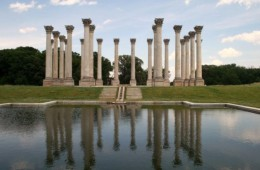 Capitol columns and reflecting pool