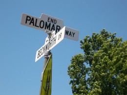 Street sign on Palomar Way