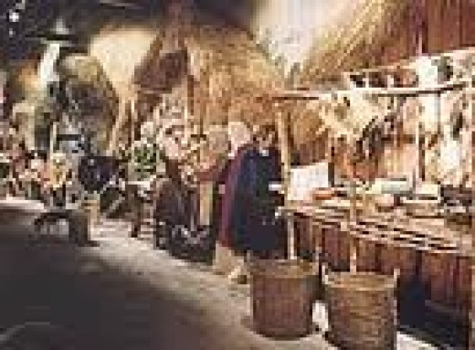 The common folk at home, na artisan's dwelling in Jorvik (Jorvik Viking Centre, Coppergate)