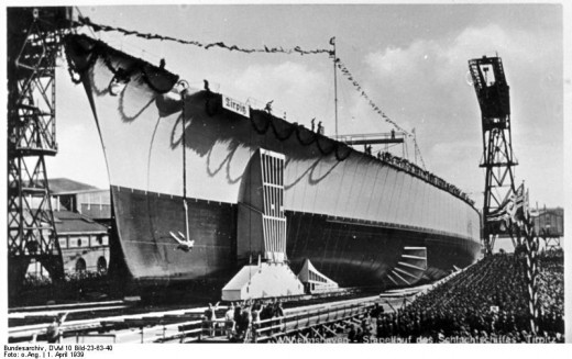 Launching of the Tirpitz