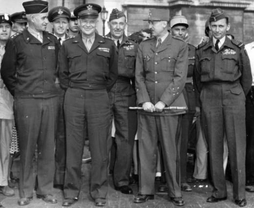 Eisenhower and Koenig in Paris
